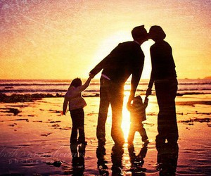 family, children, and sun image