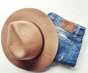 hat, fashion, and jeans image