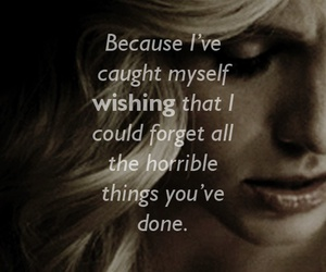 caroline, tvd, and quote image