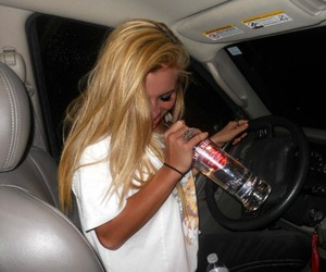 alcohol, blonde, and car image