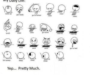 life, funny, and school image