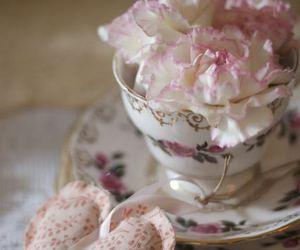 rose, tea, and vintage image