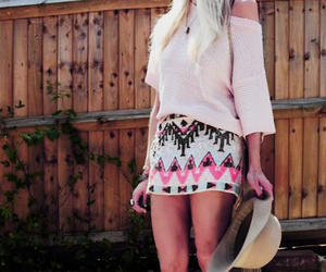 fashion, skirt, and blonde image