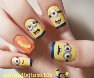 nails, minions, and despicable me image