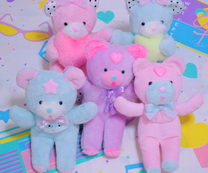 kawaii, pastel, and toys image
