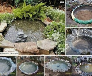 garden, diy, and pond image