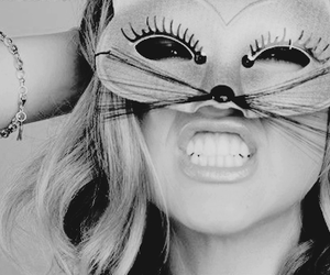 girl, cat, and mask image