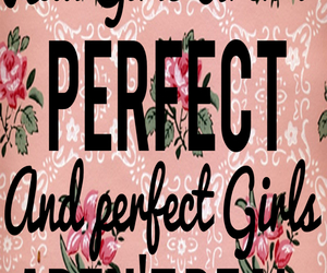girl, perfect, and quotes image