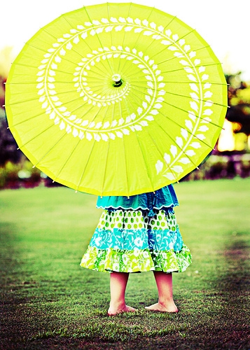 umbrella and yellow image