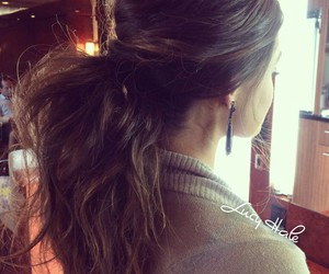 hair, lucy hale, and ponytail image