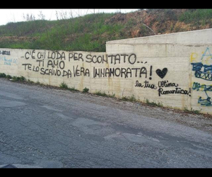 wall, love, and ultimi romantici image