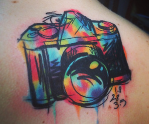 tattoo, camera, and camara image