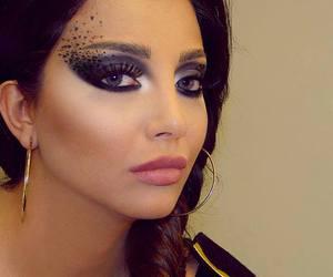 arab, beauty, and black hair image