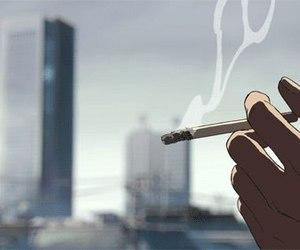 anime, smoke, and gif image