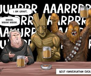 hodor, groot, and star wars image