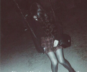 dark, indie, and girl image