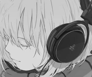 anime, music, and headphones image