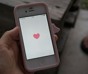 iphone, we heart it, and pink image