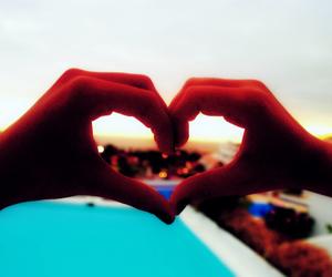 best friends, heart, and splash image