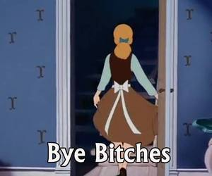 bitch, cinderella, and bye image