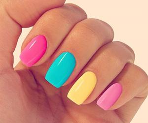 colors, girls, and nail image