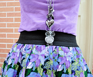 fashion, purple, and owl image