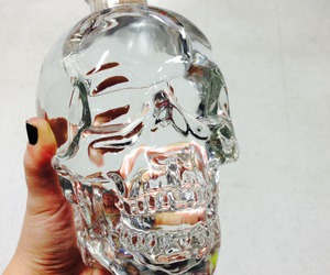 skull, vodka, and bottle image