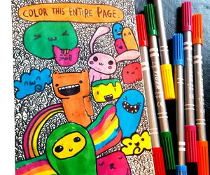 doodle, kawaii, and wreck this journal image