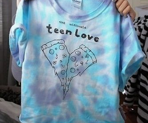 pizza, tumblr, and teen image