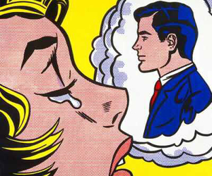 pop art, cry, and art image