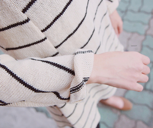 fashion, sweater, and stripes image