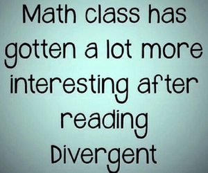 divergent, four, and math image
