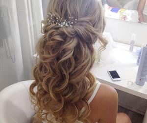 hair, beautiful, and style image