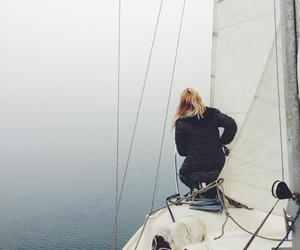 girl, sailing, and adventure image