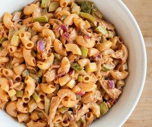 bbq, Chicken, and pasta image