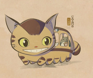 anime, cat bus, and iphone wallpaper image