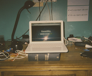 tumblr, computer, and hipster image