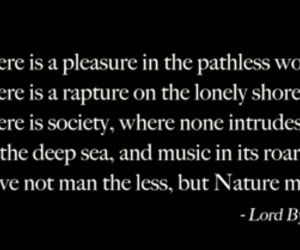 into the wild, Lord Byron, and quote image
