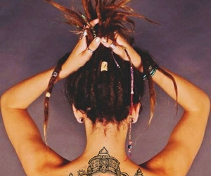 tattoo, dreads, and rasta image