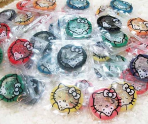 colorful, condoms, and hello kitty image