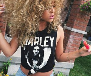 curly hair and marley image