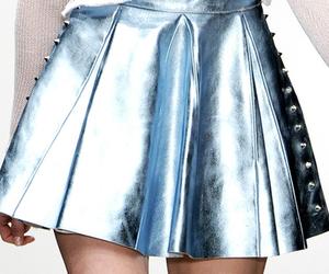 fashion, skirt, and metallic image