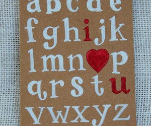 alphabet, love, and card image