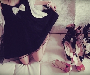 shoes, dress, and girl image