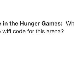 arena, funny, and hunger games image