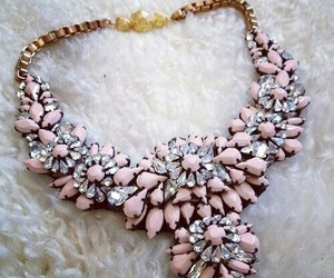 necklace, pink, and jewelry image