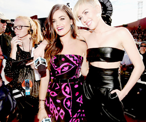 lucy hale, miley cyrus, and vma image