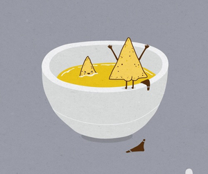 nachos, funny, and cheese image