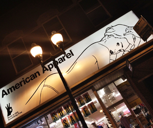 american apparel, chicago, and night time image