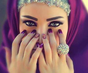 eyes, hijab, and beauty image